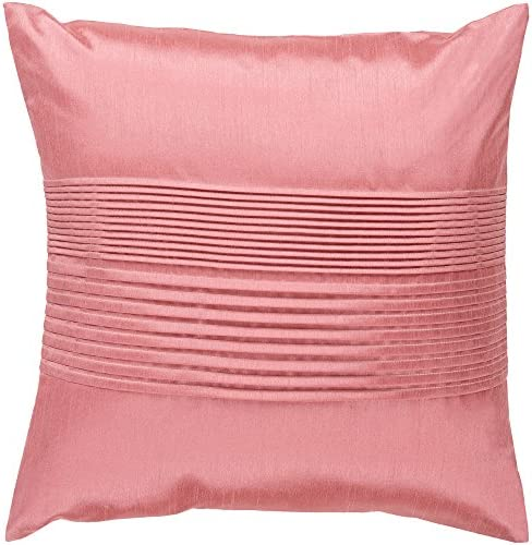 Artistic Weavers HH-023 Hand Crafted 100 Polyester Salmon 22 x 22 Solid Decorative Pillow