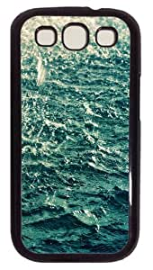 Samsung Galaxy S3 Case Cover - Blue Water Customzie Case for Samsung S3 SIII I9300 - Polycarbonate - Black