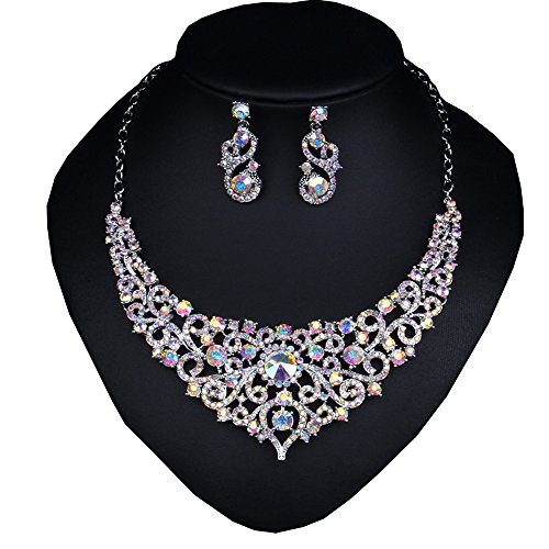 Wonderful Bridal Wedding Jewelry Set Dazzle Crystal Fashion Costume Necklace Silver Plated,w (Homemade Cupcake Costume Kids)
