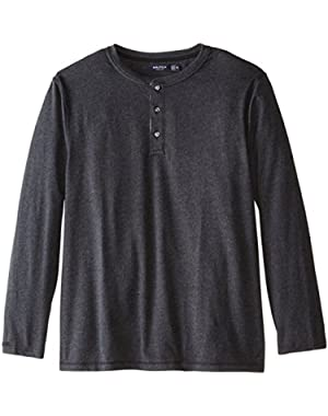 Men's Big-Tall Long Sleeve Henley Shirt