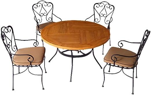 Salon de jardin 4 chaises + 1 table, ensemble de jardin avec ...