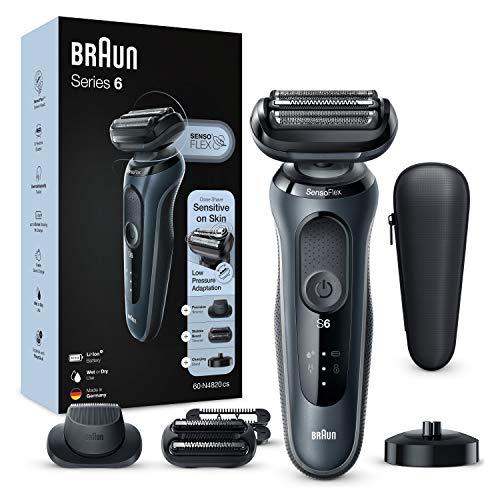 Braun Series 6 60-N4820cs Afeitadora Eléctrica, máquina de afeitar barba hombre de lámina, Con Base De Carga, 2…