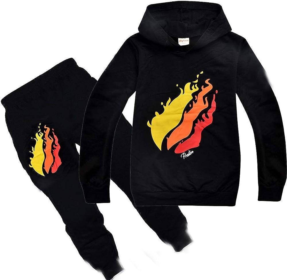 PrestonPlayz Jungen Bekleidungsset Youtuber Baumwolle Kapuzenpullover Kinder T-Shirt