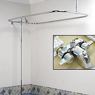 quality clawfoot tub shower converto set faucet u0026 shower rod