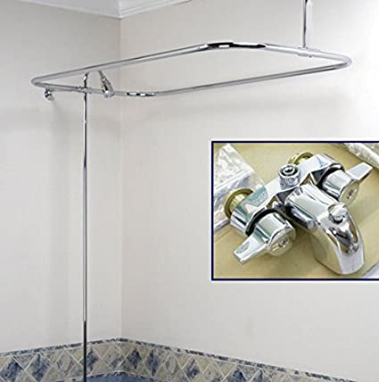 Quality Clawfoot Tub Shower Converto Set Faucet & Shower Rod ...