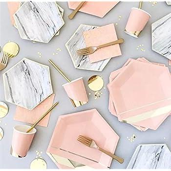 Amazon.com: Elise 329883 Foil Rectangular Appetizer Paper Plates ...