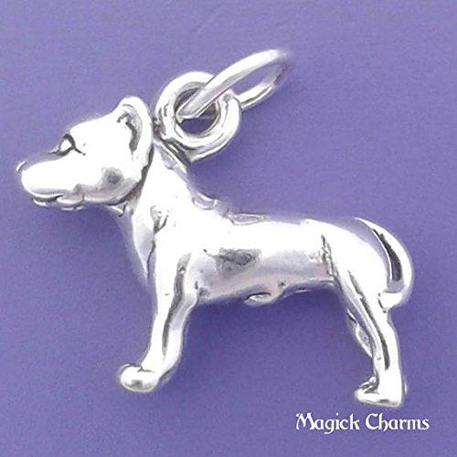 Amazon com: Sterling Silver 3-D PITBULL Dog Pit Bull Charm