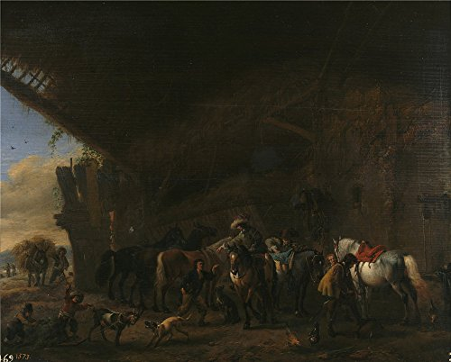 Oil Painting 'Wouwerman Philips Salida De La Posada Ca. 1660', 20 x 25 inch / 51 x 63 cm , on High Definition HD canvas prints is for Gifts And - Of Coupon Romance A Touch