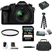 Panasonic Lumix DMC-FZ1000 4K QFHD/HD 16X Long Zoom Digital Camera (Black) with 32GB Deluxe Accessory Bundle Basic Facts Review Image