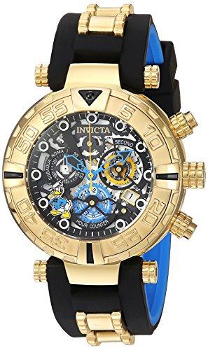 - Invicta Men's Disney Limited Edition Quartz Watch with Silicone Strap, Black, 24 (Model: 24510)