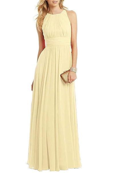 a73ee40d52 UZN Vestido de Gasa Plisado Elegante para Mujer