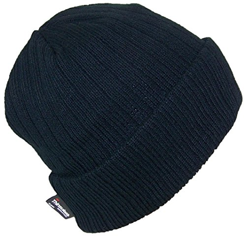 Best Winter Hats 3M 40 Gram Thinsulate Insulated Cuffed Knit Beanie (One Size) - Black