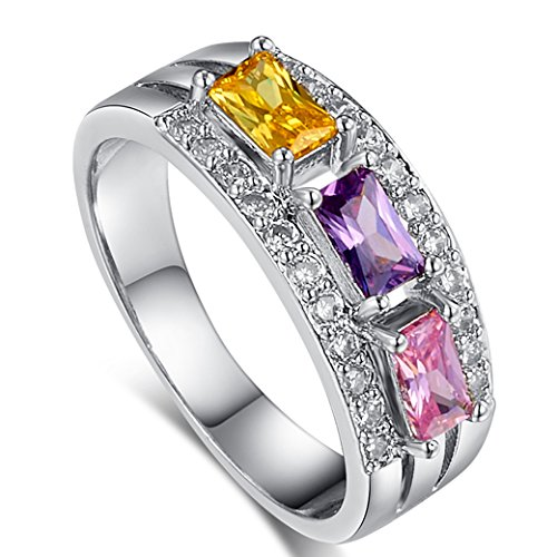 5x3mm Emerald Cut Amethyst Ring - 2