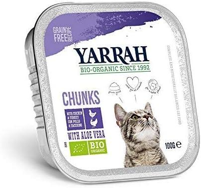 Yarrah Alimento orgánico para gatos de pollo y pavo, pack de 16 ...