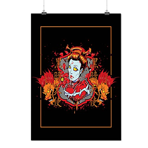 Oriental Zombie Fear Devil Woman Matte/Glossy Poster A3 (12x17 inches) | Wellcoda