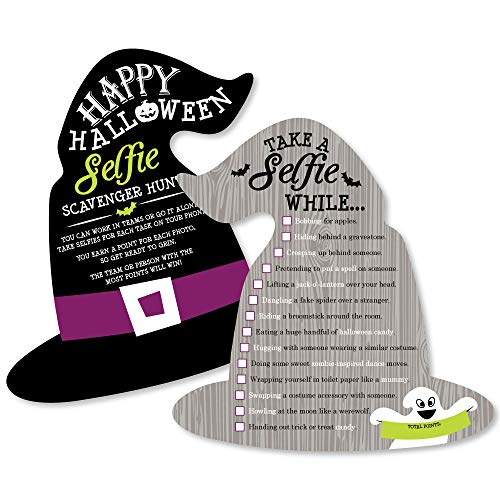 Happy Halloween - Selfie Scavenger Hunt - Witch Party Game - Set of 12]()