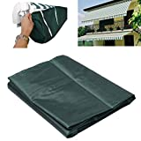 Green Protective Awning Cover Storage Bag with String for Outdoor Garden Sun Protection Dustproof (3.5m / 11.48ft)