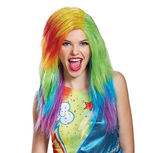 Disguise Women's Rainbow Dash Movie Adult Wig, Multi, One (Adult Rainbow Dash)