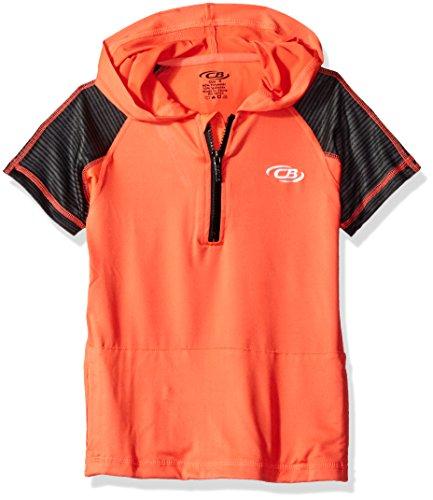 CB Sports Boys Performance Short Sleeve Quarter Zip Hoody Pullover