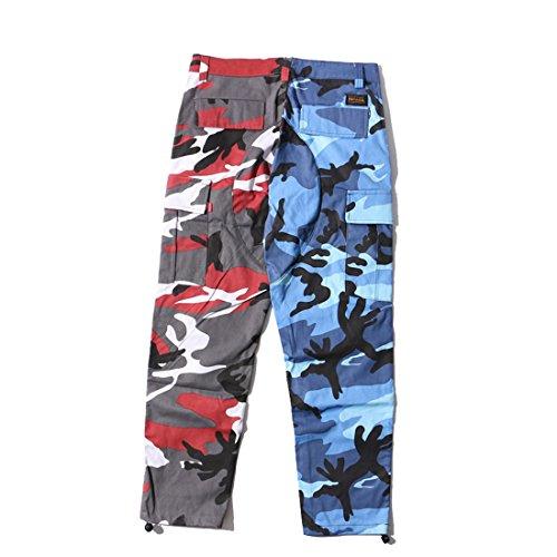 Cotone Jeans Pantaloni Stampa amp;rosso blu 2 Tempo Moda Libero Sciolto Moda Mimetica Di NiSeng Donna Paq8wxE