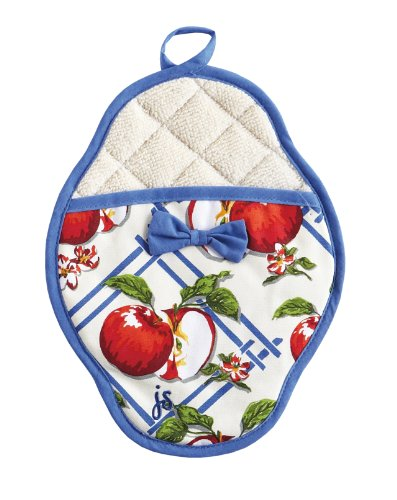 Jessie Steele Apple of My Eye Pot Mitt, Blue