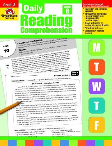 Reading Comprehension Grade 8: Amazon.com