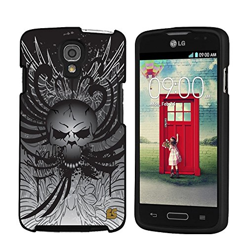 Spots8« For LG LS740 Volt ( Boost Mobile / Sprint) Glossy Image Hard Case 2 Piece Snap On Cellphone Plastic Cover - Black Skull Head Design (Volt Cover Skull Lg)
