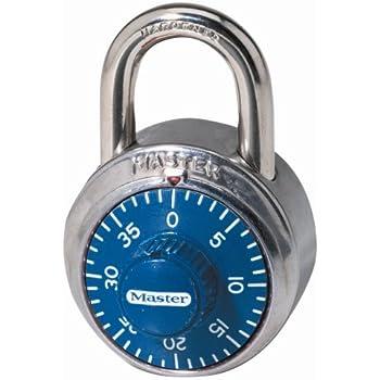 Master Lock Padlock, Standard Dial Combination Lock, 1-7/8 in. Wide, Assorted Colors, 1505D