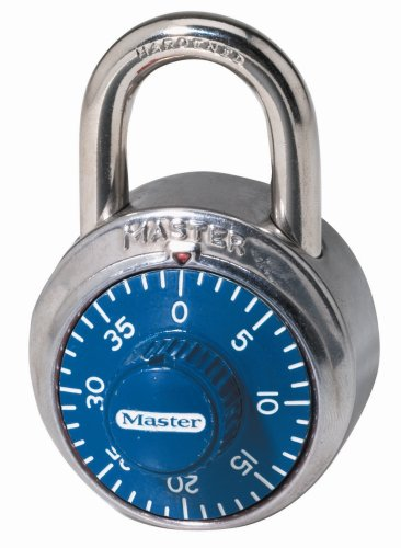 Master Lock Padlock, Standard Dial Combination Lock, 1-7/8 in. Wide, Assorted Colors, 1505D (Lock Master 7)