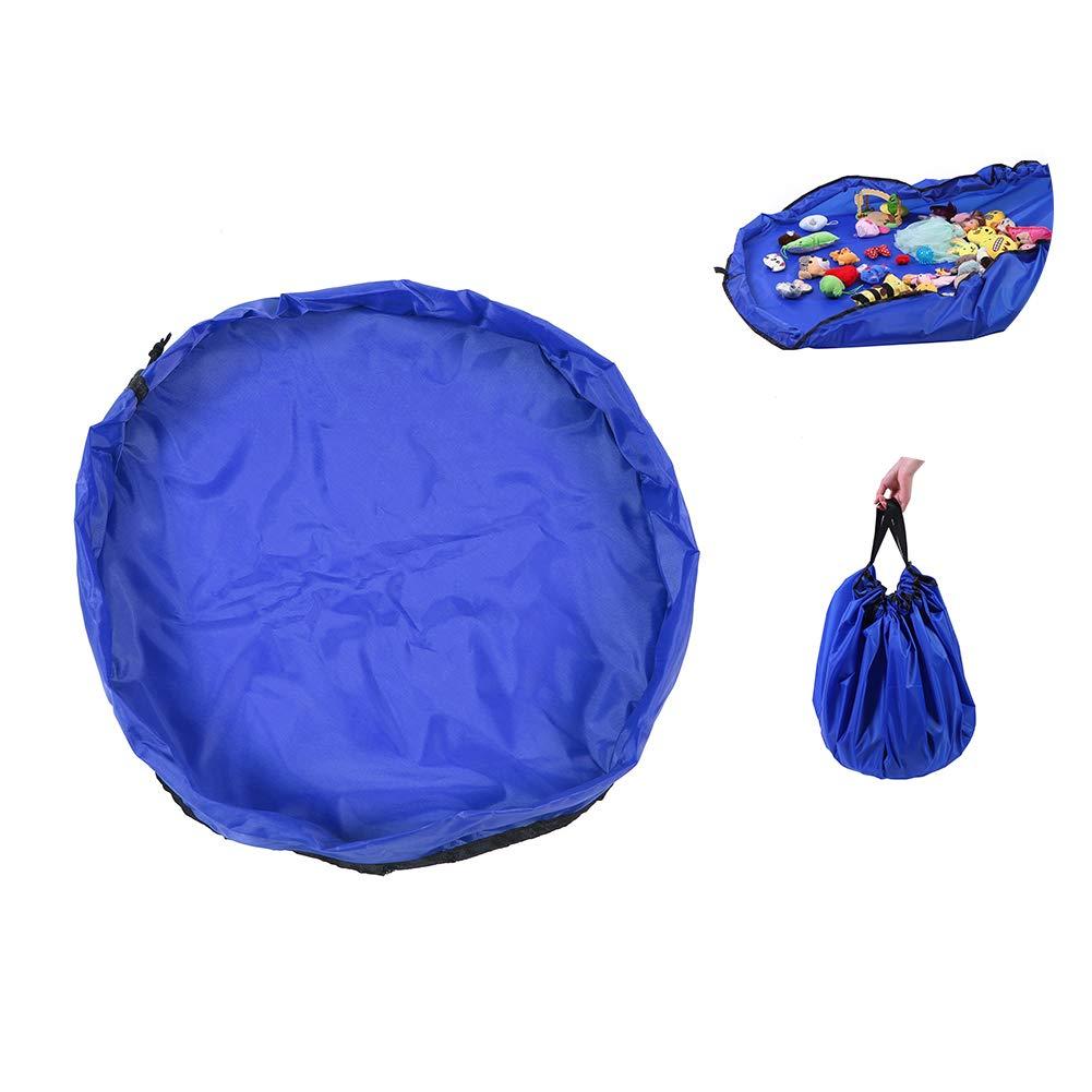 Beito Spielzeug-Speicher-Beutel-Organisator-Spiel-Matte Robuste Oxford Aufbewahrungstasche Groß e Grö ß e 60 Zoll Durchmesser Mat, Farbe blau
