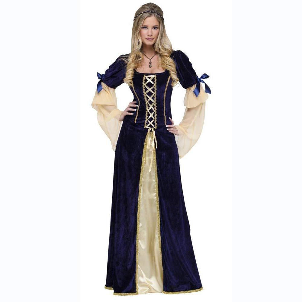 Ambiguity Halloween kostüm Damen Halloween Retro Court Königin Prinzessin Spielen einheitliche europäische Hexe Kostüm Zeigen