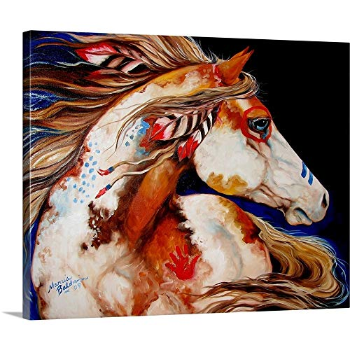 Marcia Baldwin Premium Thick-Wrap Canvas Wall Art Print Entitled Indian War Horse 30