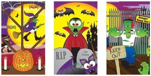 12 x Halloween spooky Notebooks Mini trick treat party bag toys by WF Graham
