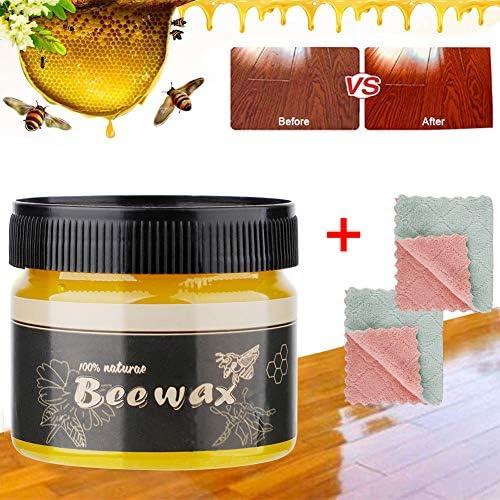 SH 4 Stück Holzwürzel, Bienenenwachs-Politur für Holz und Möbel, Allzweck-Bienwachs für Holzreiniger, ungiftig für Möbel