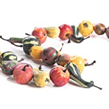 Factory Direct Craft Over 5 Feet of Artificial Autumn Harvest Gourd and Pumpkin Garland for Fall and Thanksgiving Decor