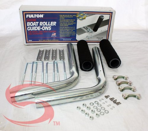 Fulton Galvanized Steel Boat Guides withCushioned Rollers - 20 in - Guides Fulton Trailer