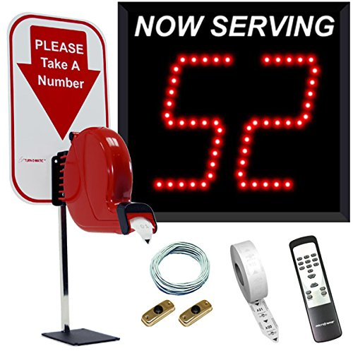 2-Digit Take A Number System with Ticket Dispenser - Number Machine