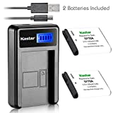 Kastar Battery (X2) & LCD Slim USB Charger for Samsung BP-70A, BP70A, EA-BP70A and ES65 ES67 ES70 ES71 ES73 ES74 PL80 PL81 PL100 PL101 SL50 SL600 SL605 SL630 ST60 ST61 ST70 ST71 TL105 TL110 TL205