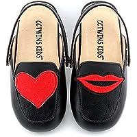 CCTWINS KIDS Toddler Baby Girl Fashion Mules Slip-On Flat Shoe