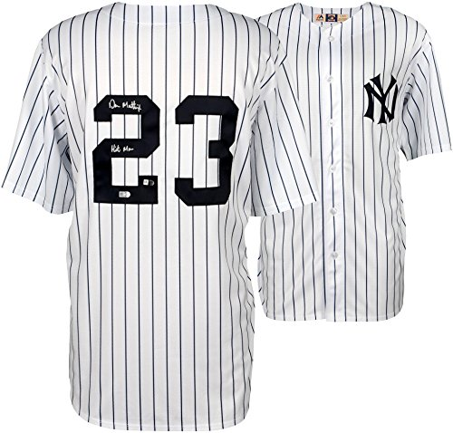 Don Mattingly New York Yankees Autographed White Majestic Cooperstown Collection Replica Jersey with