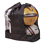 Mesh Ball Bag, Large Fottball Training Equipment Drawstring Mesh Storage Bag with Shoulder Strap