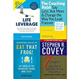 img - for 7 habits of highly effective people, coaching habit, eat that frog and life leverage 4 books collection set book / textbook / text book