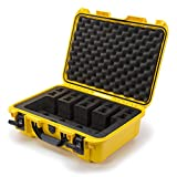 Nanuk 925 Waterproof Professional Gun Case, Military Approved with Custom Foam Insert for 4UP - Yellow