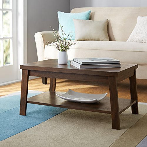 Logan Coffee Table with Storage shelf in Canyon Walnut