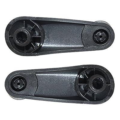 Pair Set Manual Window Crank Handles Black Replacement for Chevrolet Silverado GMC Sierra Pickup Truck 20980650: Automotive
