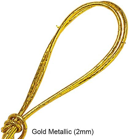 Sailing,Tarpaulin Crafts,Garments,Outdoor Sports Activities,Metallic Gold /& Silver and New Patterned /& Florescent Styles! Optic White - 2 Meters 3Mm 3mm,6mm,8mm,10mm,Elastic Stretch Shock Cord,Bungee Rope Trimming for Boating