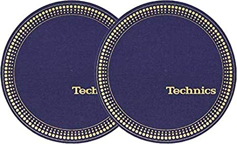 Slipmat Technics Strobo – azul/oro paquete doble: Amazon.es ...