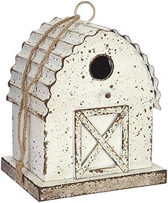 Metal Country Home Birdhouse 6.5 X 5 X 10.25