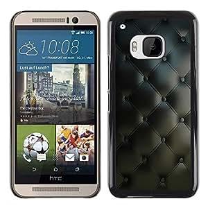 Be Good Phone Accessory // Dura Cáscara cubierta Protectora Caso Carcasa Funda de Protección para HTC One M9 // Diamond Quilt Classy Leather Pattern