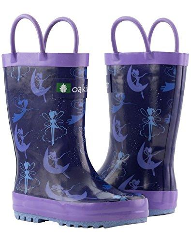 Oakiwear Kids Rubber Rain Boots with Easy-On Handles, Fairy Dust, 1Y US Little Kid by Oakiwear (Image #9)'